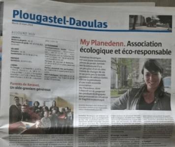 Article de presse telegramme My Planedenn boutique zéro déchet