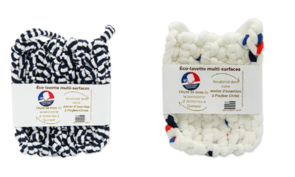 éco éponge lavette fabriqué en France.